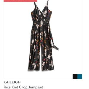 Kaileigh Crop Floral Jumpsuit